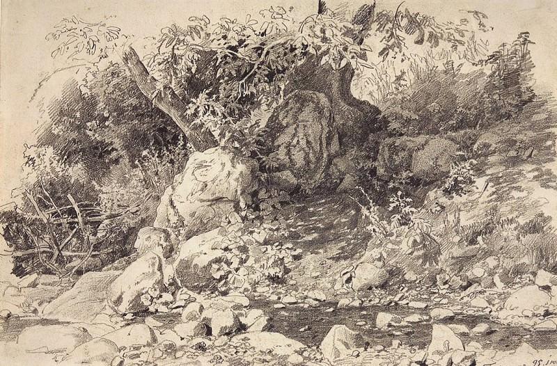 Ручей в Гурзуфе. 1879 30. 2х45. 3. Иван Иванович Шишкин