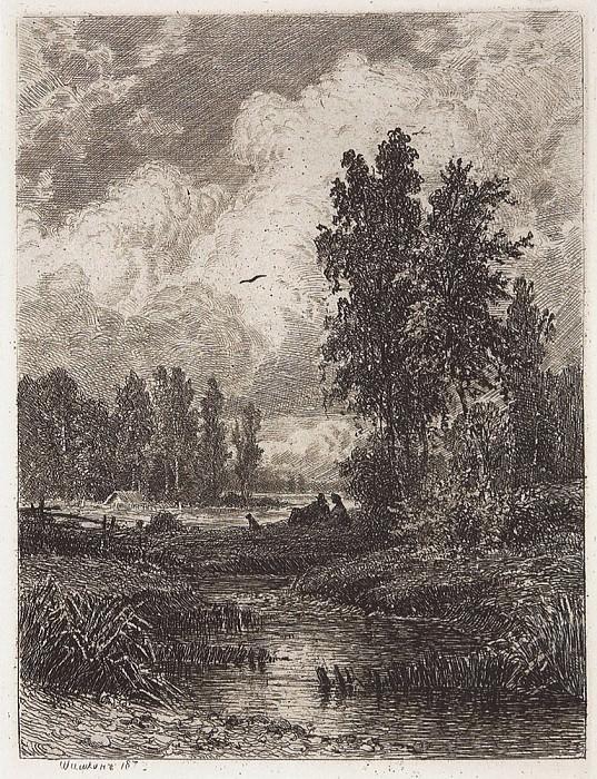 For the stream. 1873 17, 7h13, 4. Ivan Ivanovich Shishkin