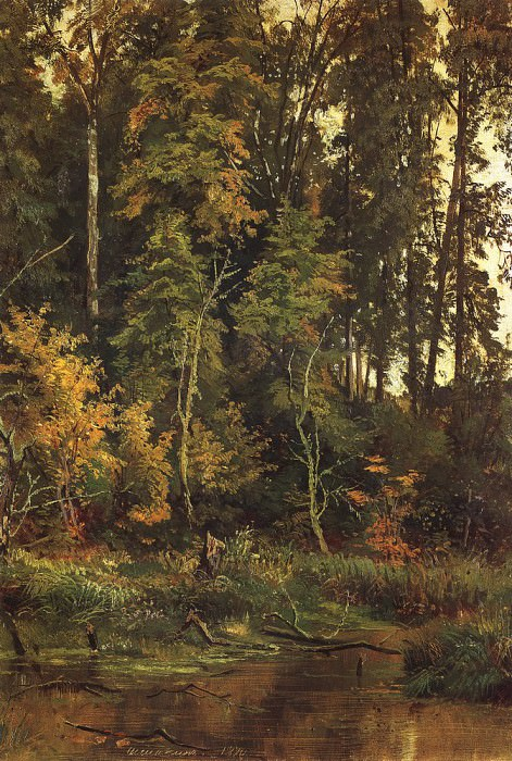 By autumn. Etude 1880 52, 5h38. Ivan Ivanovich Shishkin
