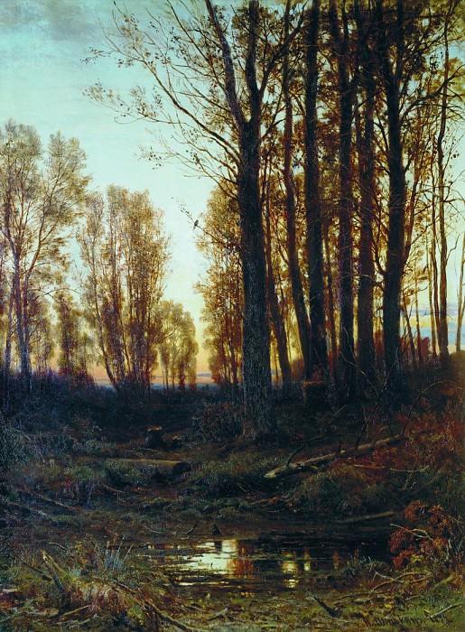 Twilight. Sunset. 1879 94, 5h75, 5. Ivan Ivanovich Shishkin