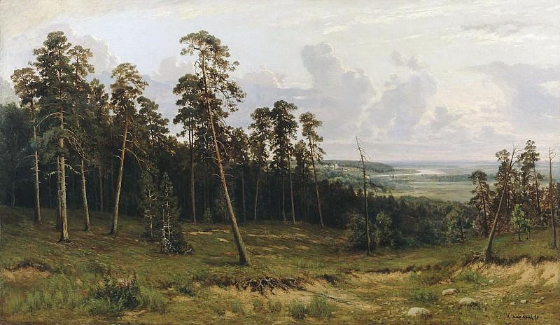 Rich log (Pine forest on the river Kama) 1877 90h148. Ivan Ivanovich Shishkin