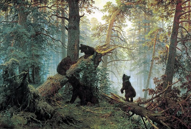 Утро в сосновом лесу. Иван Иванович Шишкин