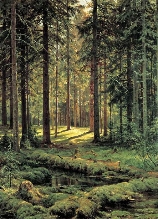 Coniferous Forest. Sunny Day 1895 137h103. Ivan Ivanovich Shishkin