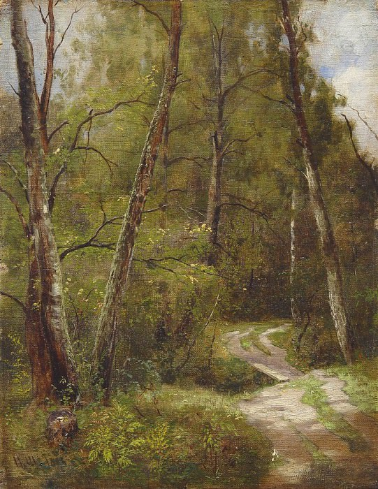 path in the woods 1886. Ivan Ivanovich Shishkin