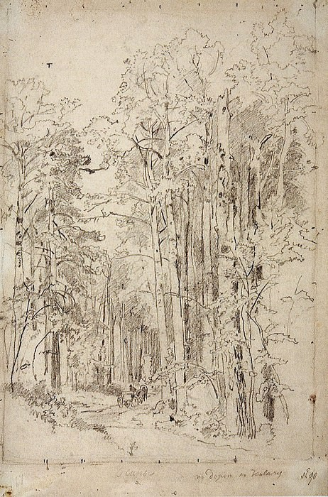 Aspen on the way to Kivach. 1889 48, 1h32. 4. Ivan Ivanovich Shishkin