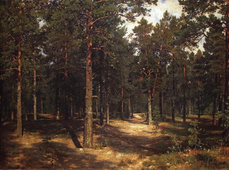 Track among the pines. 1883 96h143. Ivan Ivanovich Shishkin