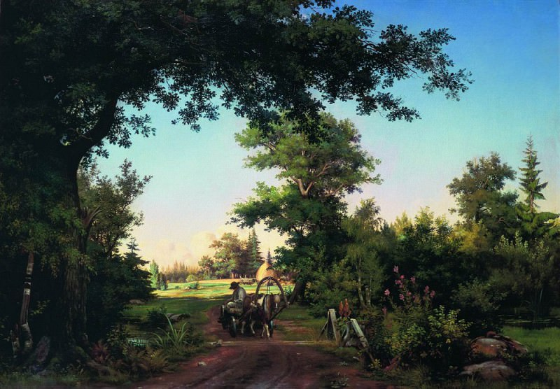 Type in the vicinity of St. Petersburg 1865 66. 5h96. Ivan Ivanovich Shishkin