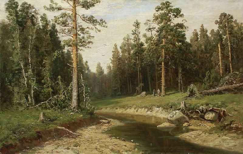 Ship forest. 1891. Ivan Ivanovich Shishkin