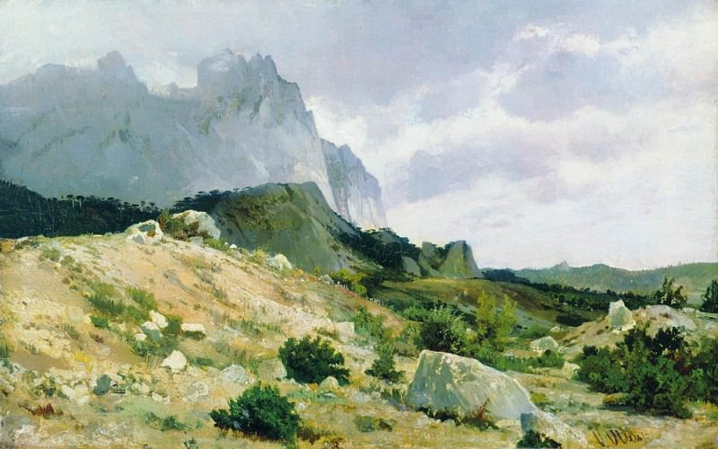 rocky shore 1879. Ivan Ivanovich Shishkin