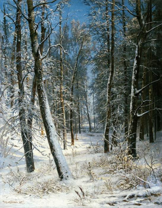 Winter in the forest, frost 1877 40, 8h25, 3. Ivan Ivanovich Shishkin