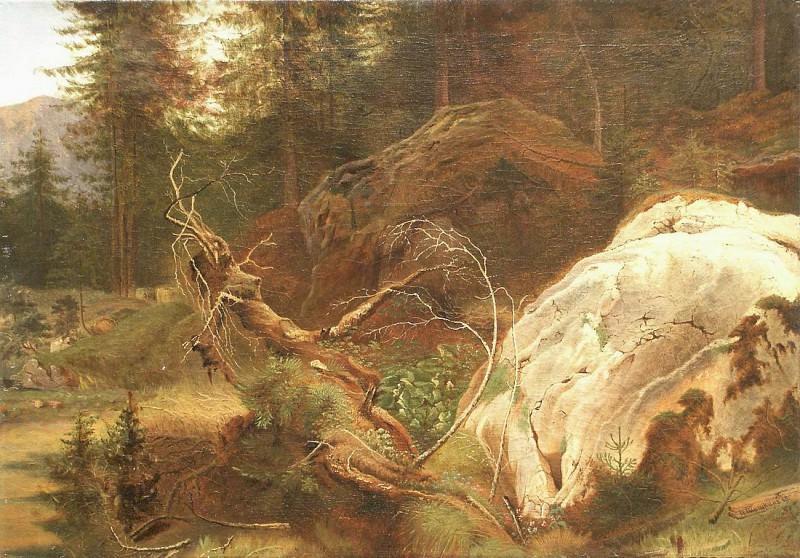 Stones in the woods. 1865. Ivan Ivanovich Shishkin