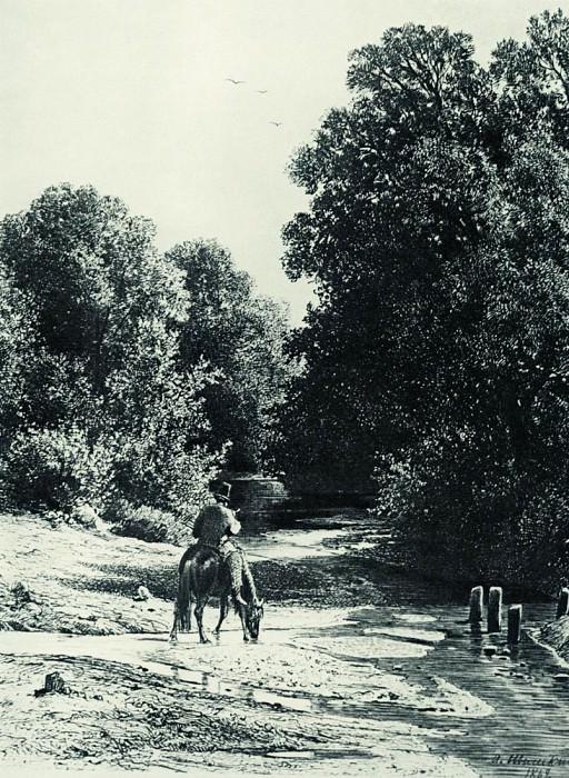 Лес. 1869 37х21. Иван Иванович Шишкин