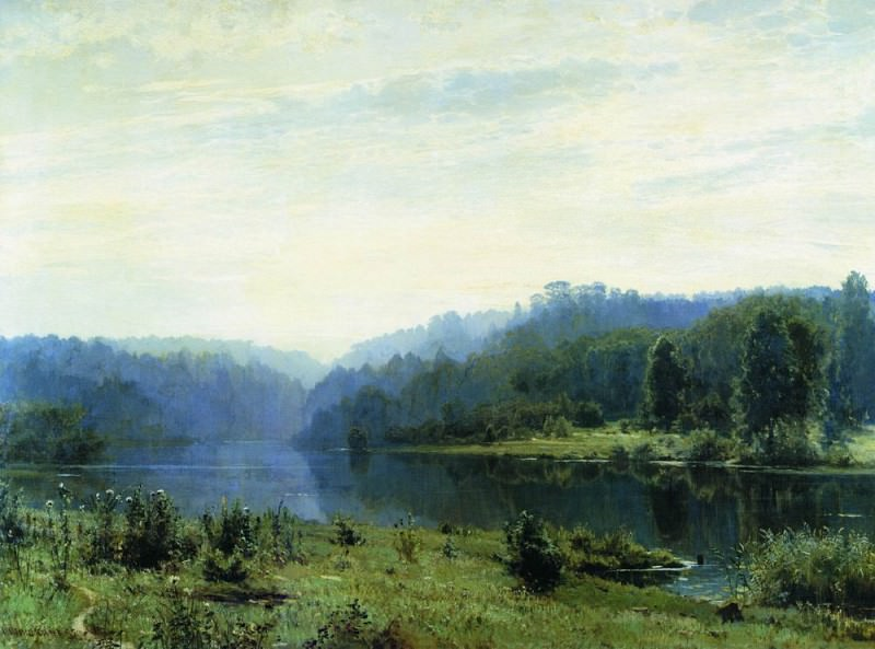 Туманное утро 1885 108х146. Иван Иванович Шишкин