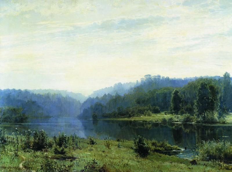 1885 Misty Morning 108h146. Ivan Ivanovich Shishkin