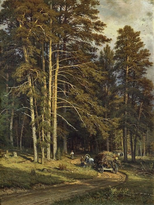 Лесная дорога. 1871-1872 102х78. Иван Иванович Шишкин