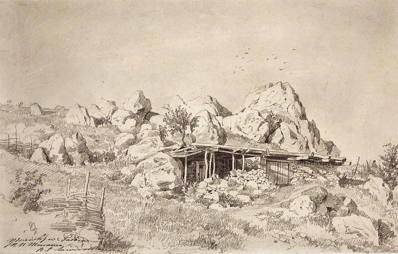 Сакля. 1879 26х40, 4. Иван Иванович Шишкин