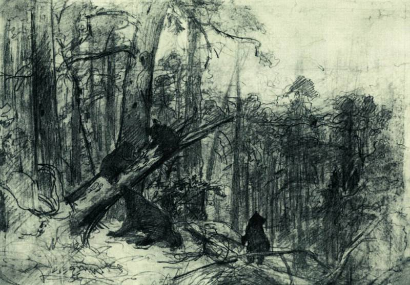 Morning in a pine forest. End of 1880 23, 2h33, 5. Ivan Ivanovich Shishkin