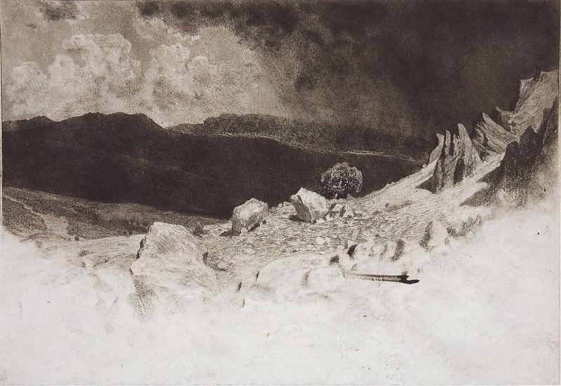 Крым. 1886 28х31. Иван Иванович Шишкин