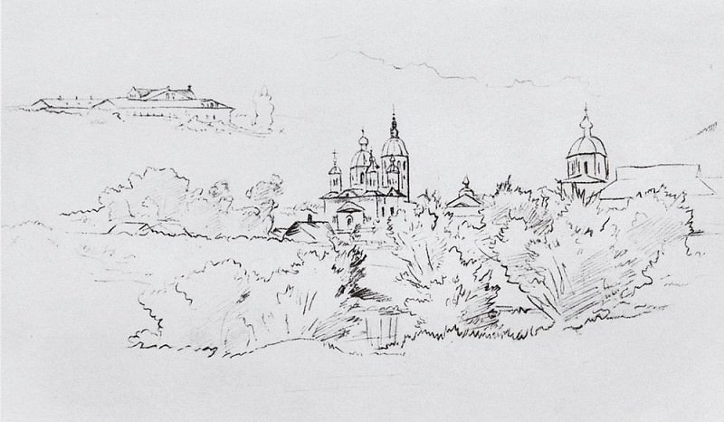 Elabuga view. 1861 29. 2x38. Ivan Ivanovich Shishkin