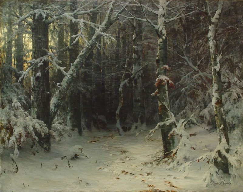 Winter Forest. Ivan Ivanovich Shishkin