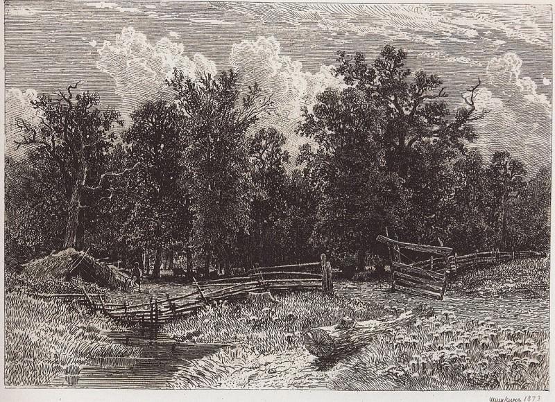 Forest outskirts. 1873 21, 3h28, 3. Ivan Ivanovich Shishkin