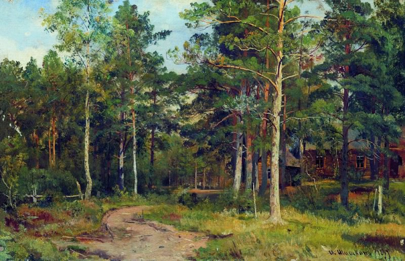 Autumn landscape. Path in the woods in 1894 44. 2h68. Ivan Ivanovich Shishkin