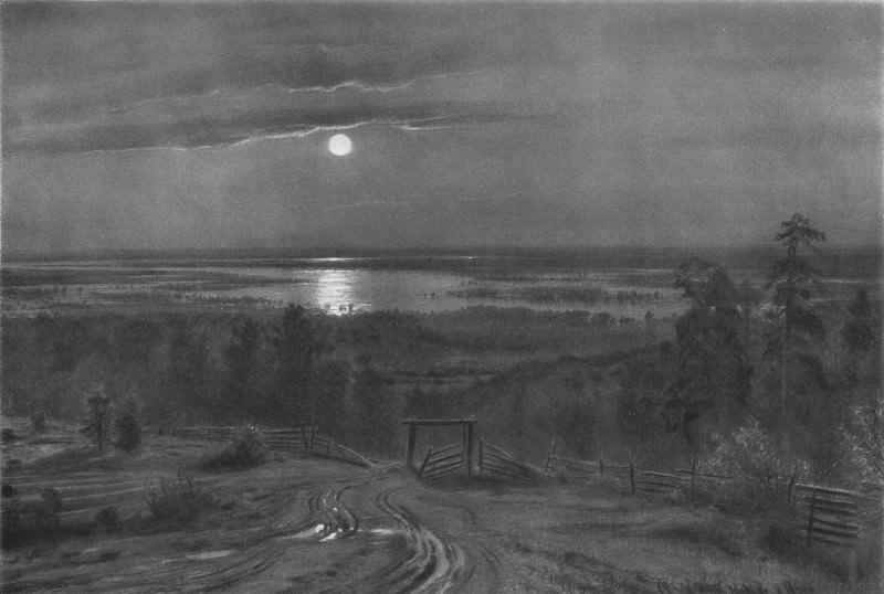 Разливы рек, подобные морям 1890 49х71. Иван Иванович Шишкин