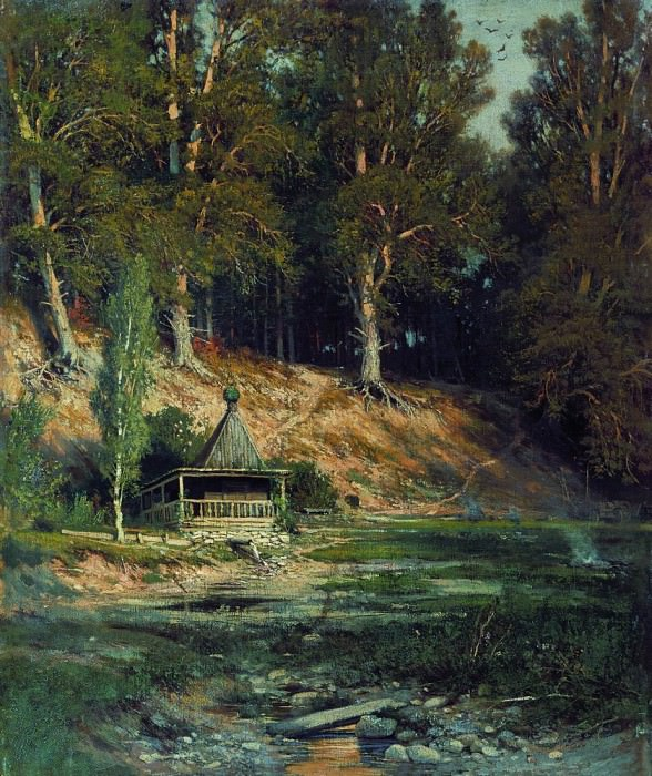 Chapel in the woods 1883 50h59. Ivan Ivanovich Shishkin
