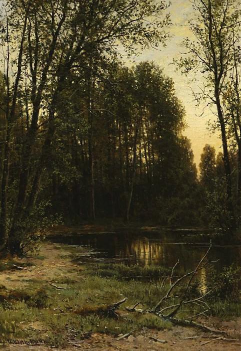 Речная заводь в лесу 1889-1890 52х47. Иван Иванович Шишкин
