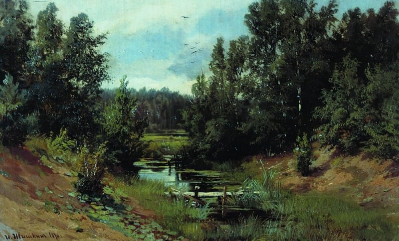 1870 Forest Stream 36, 5h59. 5. Ivan Ivanovich Shishkin