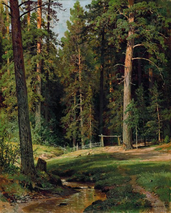 Edge of the Forest 1884 71. 5h57. 5. Ivan Ivanovich Shishkin