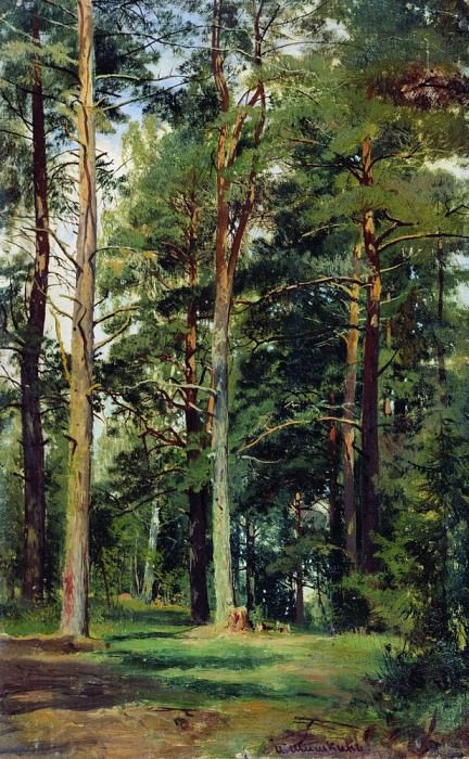 meadow with pine trees 59 23. 4. Ivan Ivanovich Shishkin