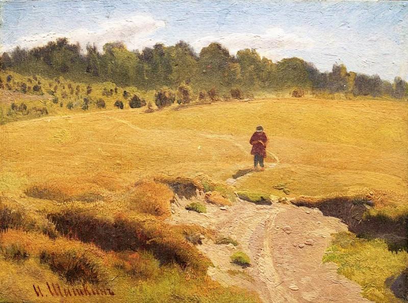 Boy in the field. Etude. Ivan Ivanovich Shishkin
