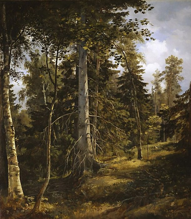 Forest thicket of 1867, 93 581, 5. Ivan Ivanovich Shishkin