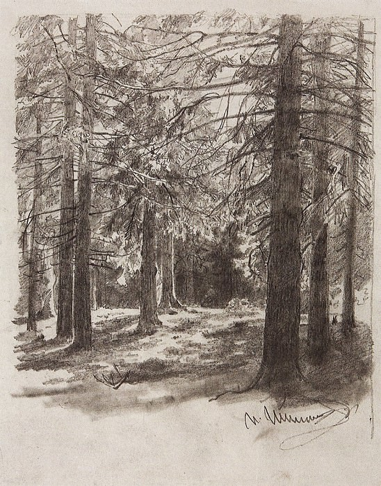 Eli, lit by the sun. 1880, 29, 7h23, 3. Ivan Ivanovich Shishkin
