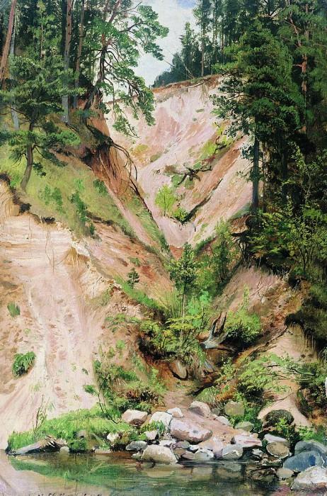 Precipice (Ovrag. stream). 1883 64. 2h42. Ivan Ivanovich Shishkin