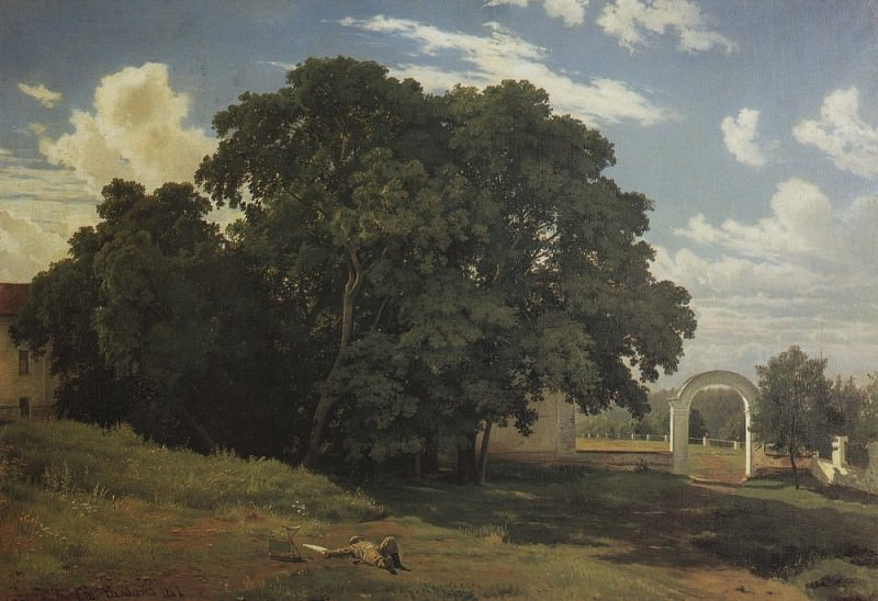 For the church fence. Balaam 1867 92h138. Ivan Ivanovich Shishkin