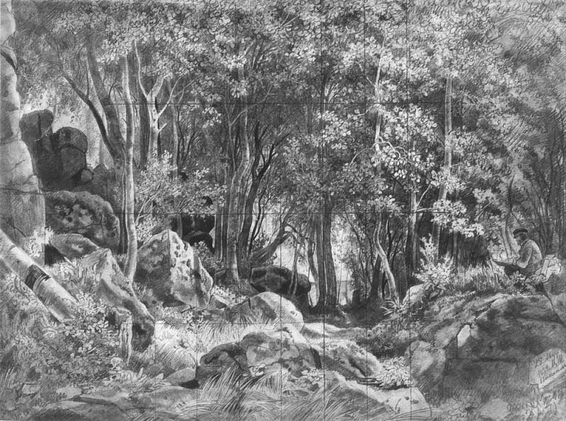 Balaam. Forest at Stones 1859 42. 4h57. 2. Ivan Ivanovich Shishkin