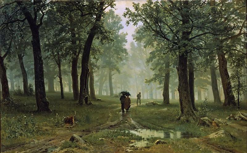Дождь в дубовом лесу. Иван Иванович Шишкин