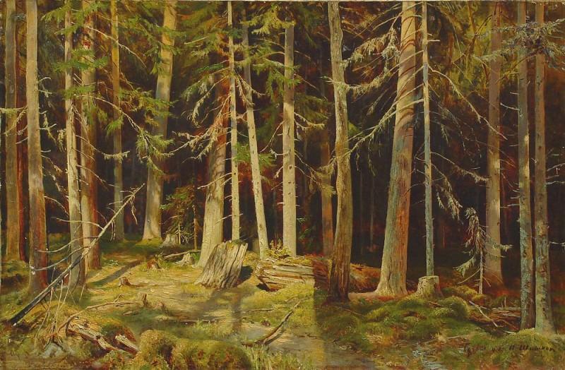 Mounts. Ivan Ivanovich Shishkin