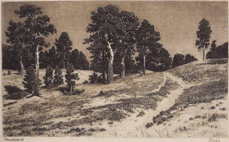 Пески. 1886 17х28. Иван Иванович Шишкин