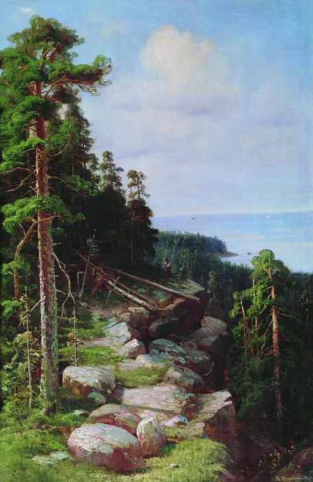 Above the quay 1887. Ivan Ivanovich Shishkin