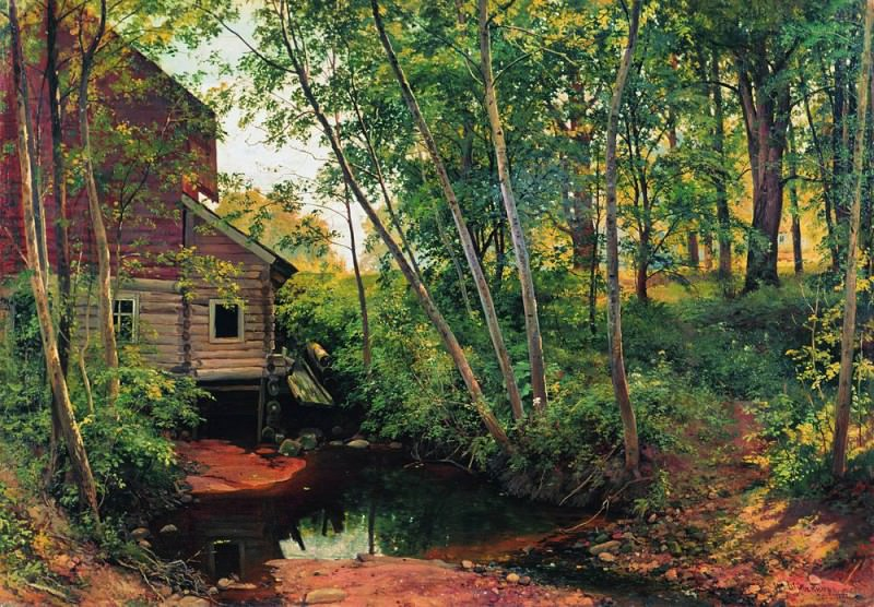 mill in the forest. Preobrazhenskoe 1897 95h136. Ivan Ivanovich Shishkin