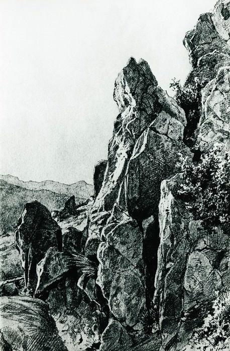 Gurzuf. Rocks 1879 44 1h30. 3. Ivan Ivanovich Shishkin