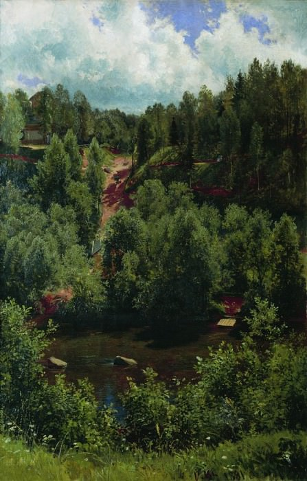 After a rain. Etude forests 103h68 1881. Ivan Ivanovich Shishkin