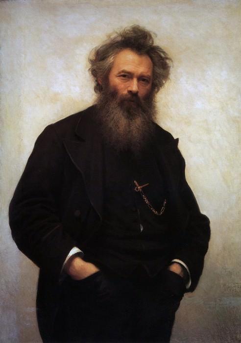 Portrait Shishkin 1880 115. 5h188. Ivan Ivanovich Shishkin