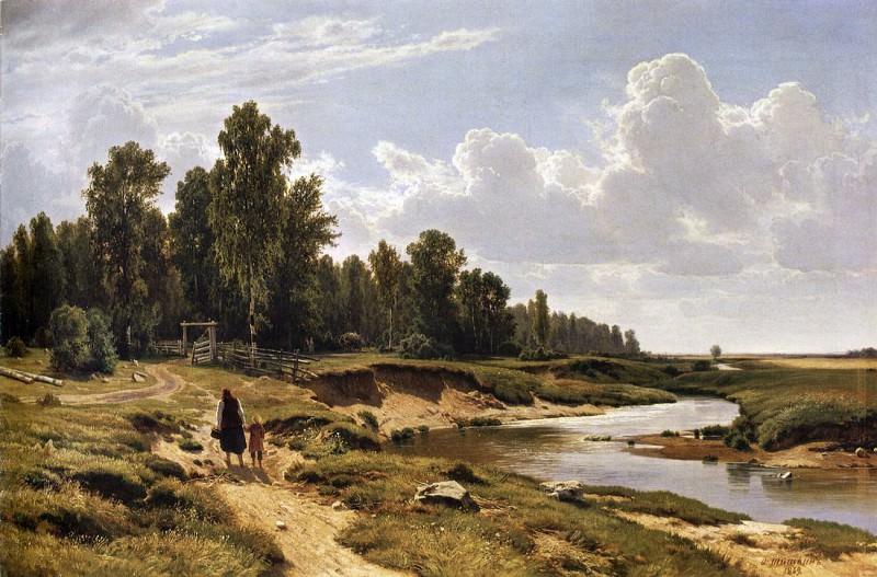 Ligovka river in the village Kostiantynivka near St. Petersburg. 1869 102, 5h160. 5. Ivan Ivanovich Shishkin