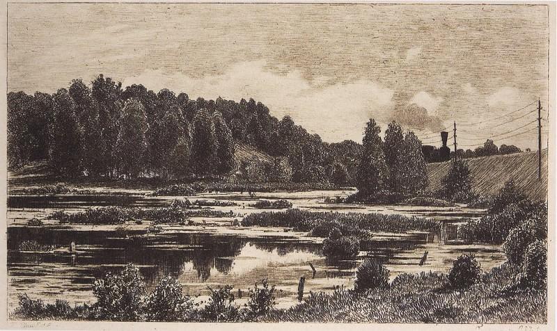 Swamp. 1886 17 5h28. Ivan Ivanovich Shishkin