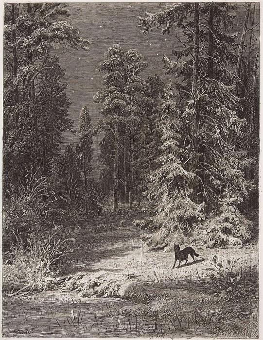 Winter night. 1876 34, 3h25. 5. Ivan Ivanovich Shishkin