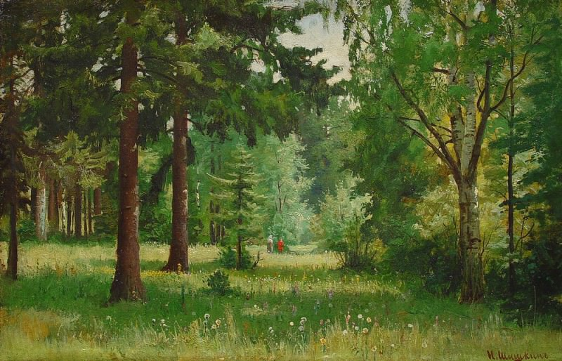 Children in the woods. Ivan Ivanovich Shishkin